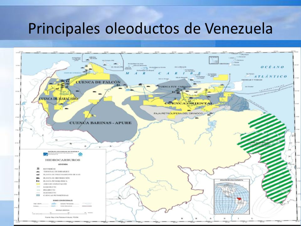 Principales oleoductos de Venezuela