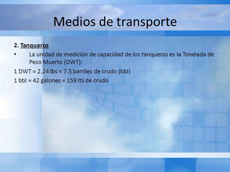 Medios de transporte 2. Tanqueros