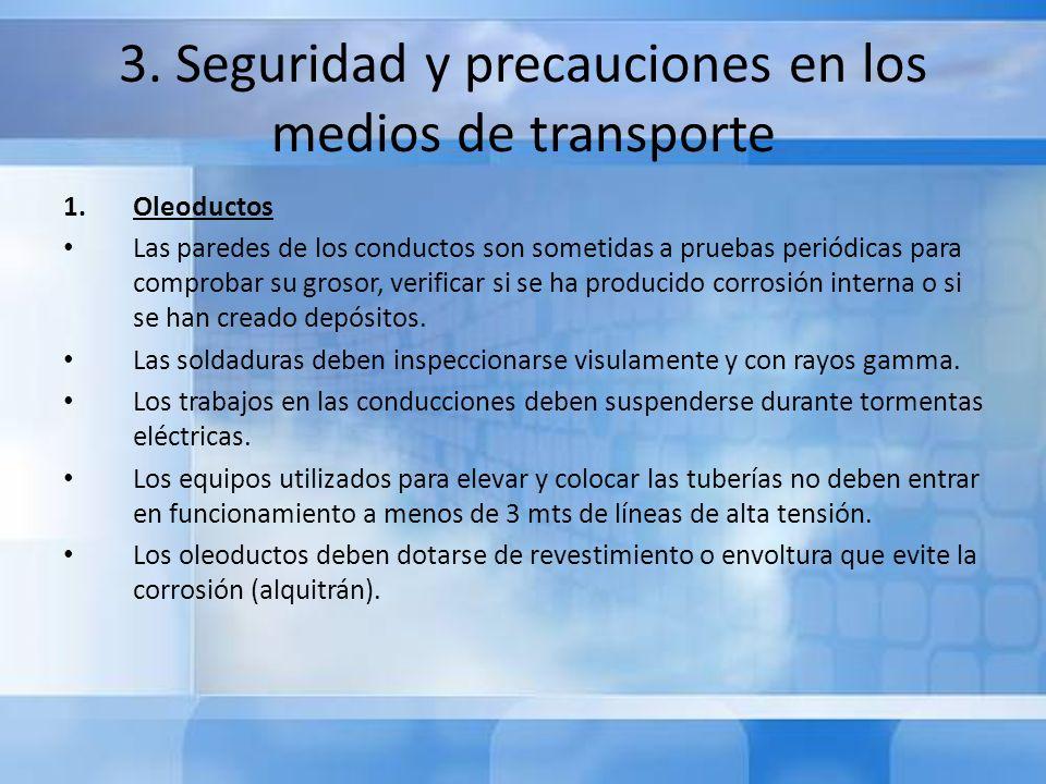 3. Seguridad y precauciones en los medios de transporte