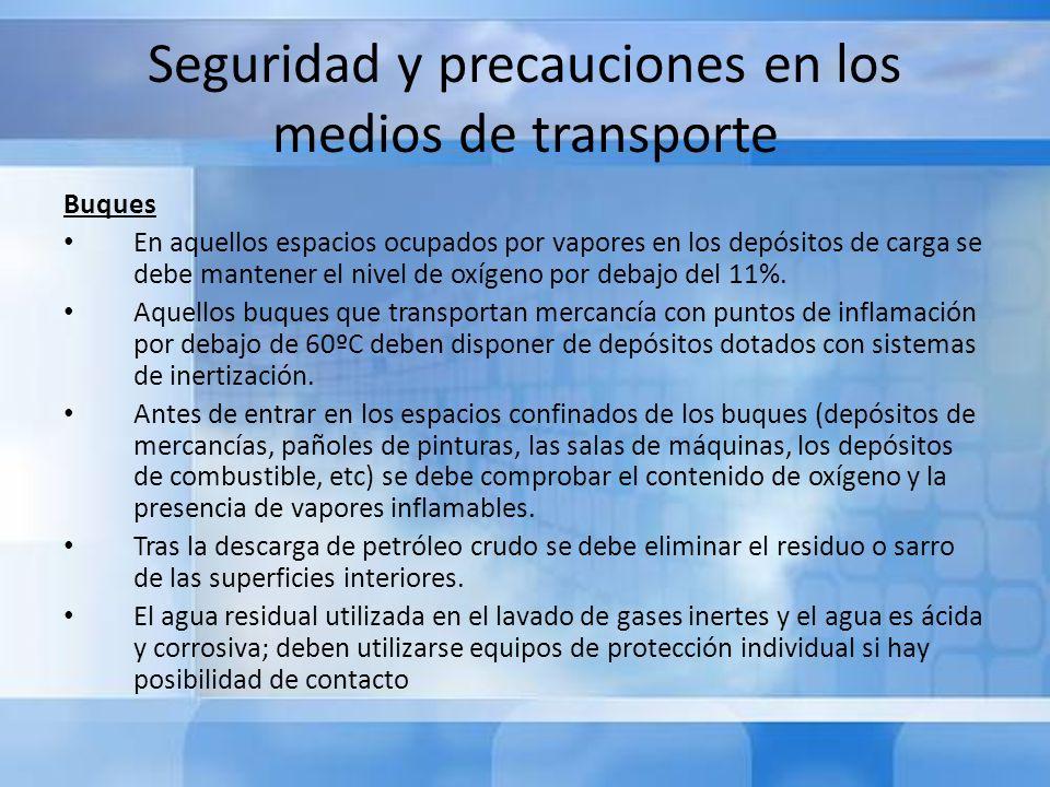 Seguridad y precauciones en los medios de transporte
