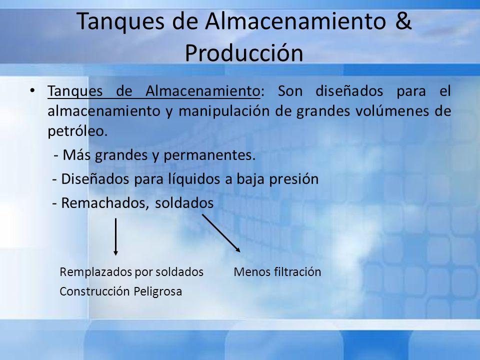 Tanques de Almacenamiento & Producción