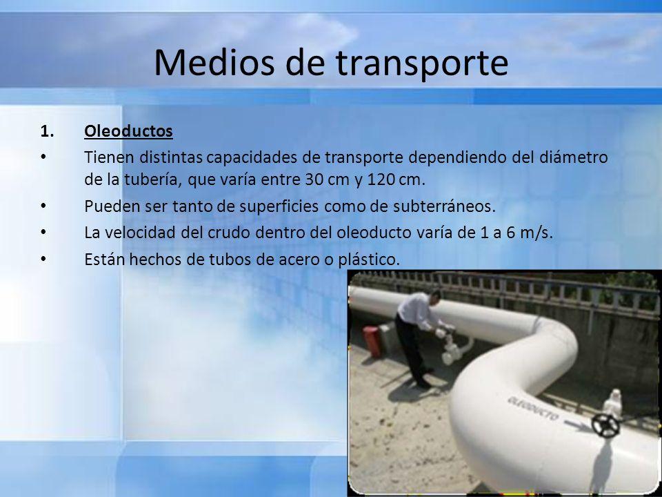 Medios de transporte Oleoductos