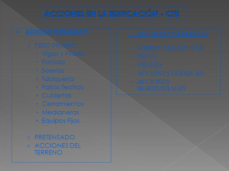 ACCIONES EN LA EDIFICACIÓN - CTE