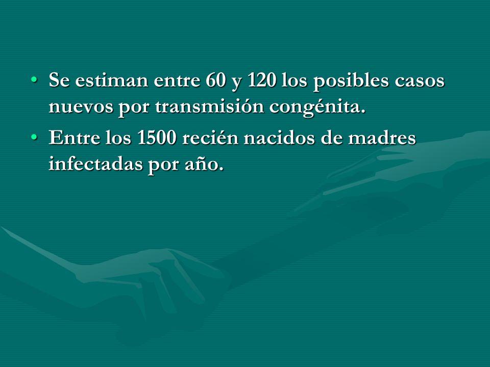 Se estiman entre 60 y 120 los posibles casos nuevos por transmisión congénita.