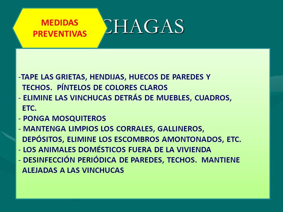 CHAGAS MEDIDAS PREVENTIVAS