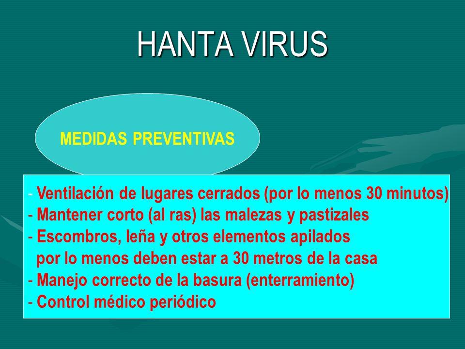 HANTA VIRUS MEDIDAS PREVENTIVAS