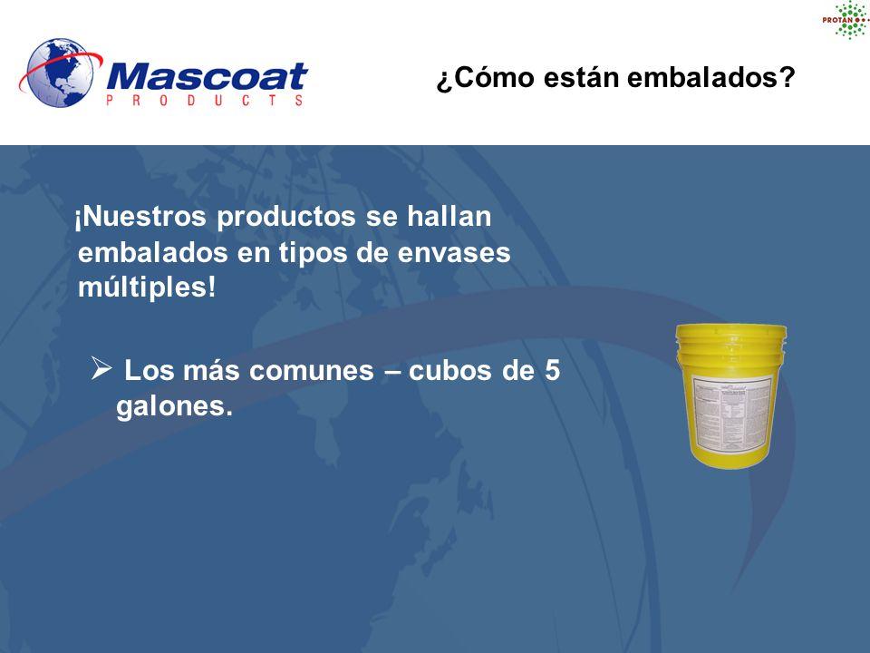 ¡Nuestros productos se hallan embalados en tipos de envases múltiples!