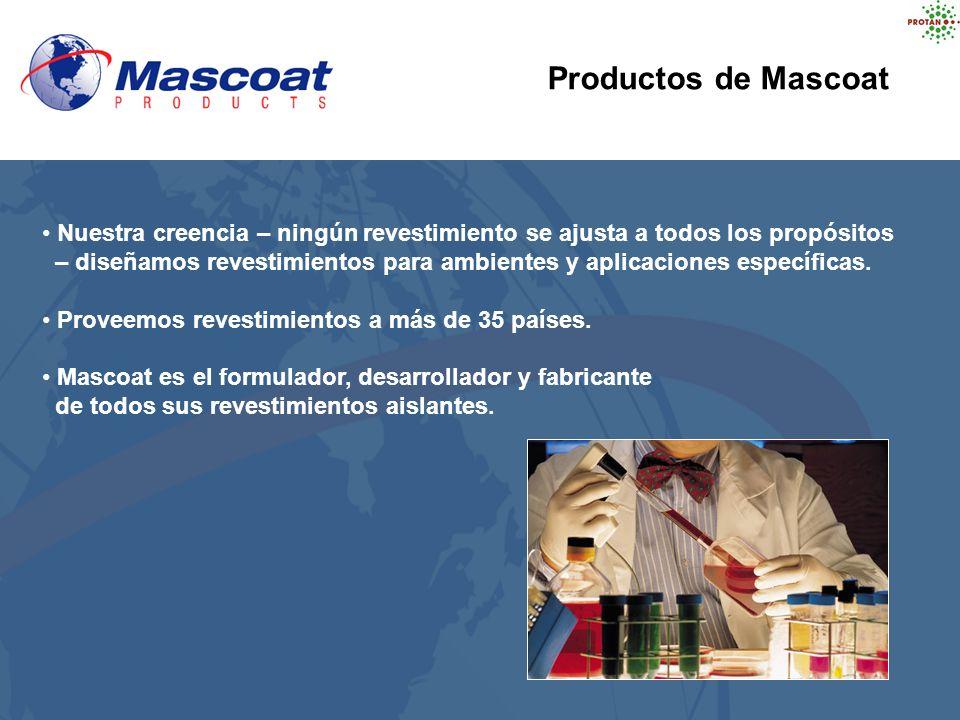 Productos de Mascoat Nuestra creencia – ningún revestimiento se ajusta a todos los propósitos.