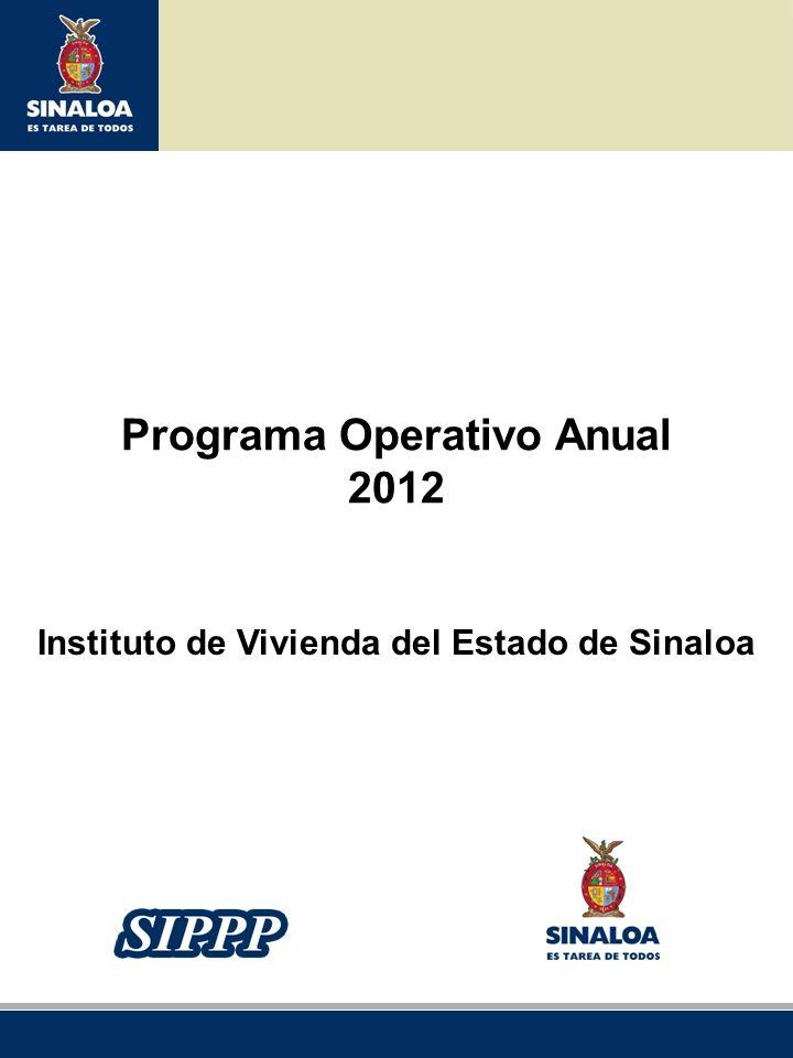 Programa Operativo Anual Instituto de Vivienda del Estado de Sinaloa