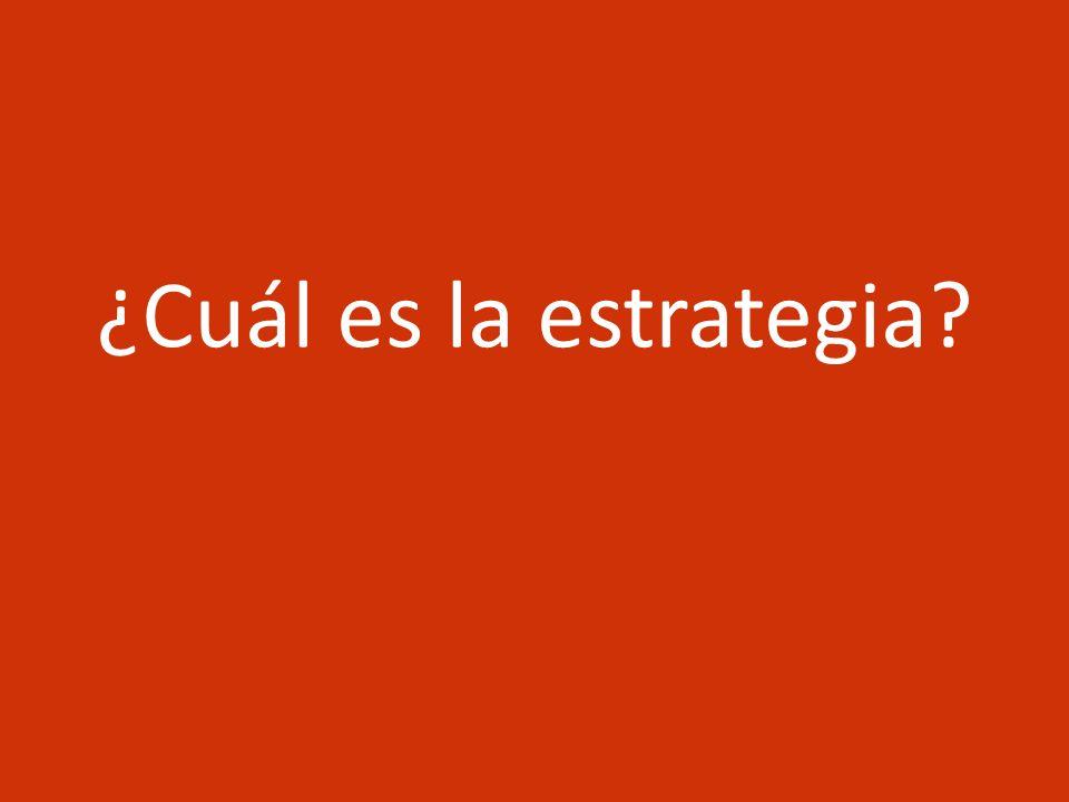 ¿Cuál es la estrategia Dos vias: 1. Canal indirecto, aumento del ingreso via crecimiento económico y locomotoras (productividad)