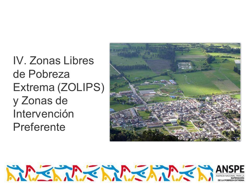 IV. Zonas Libres de Pobreza Extrema (ZOLIPS)