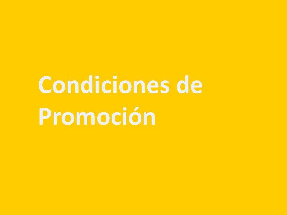 Condiciones de Promoción
