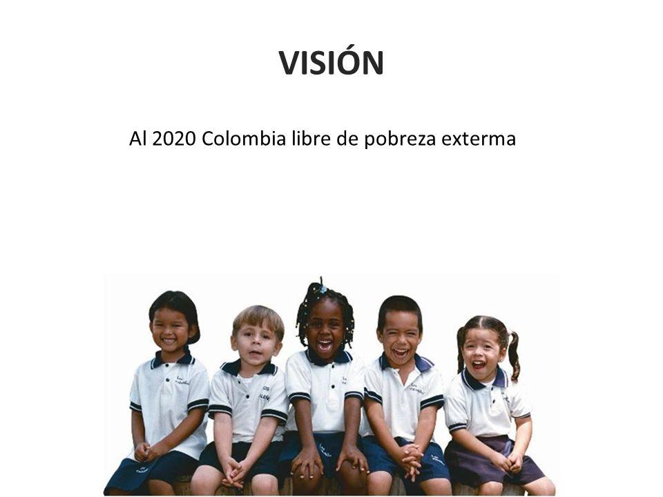 Al 2020 Colombia libre de pobreza exterma