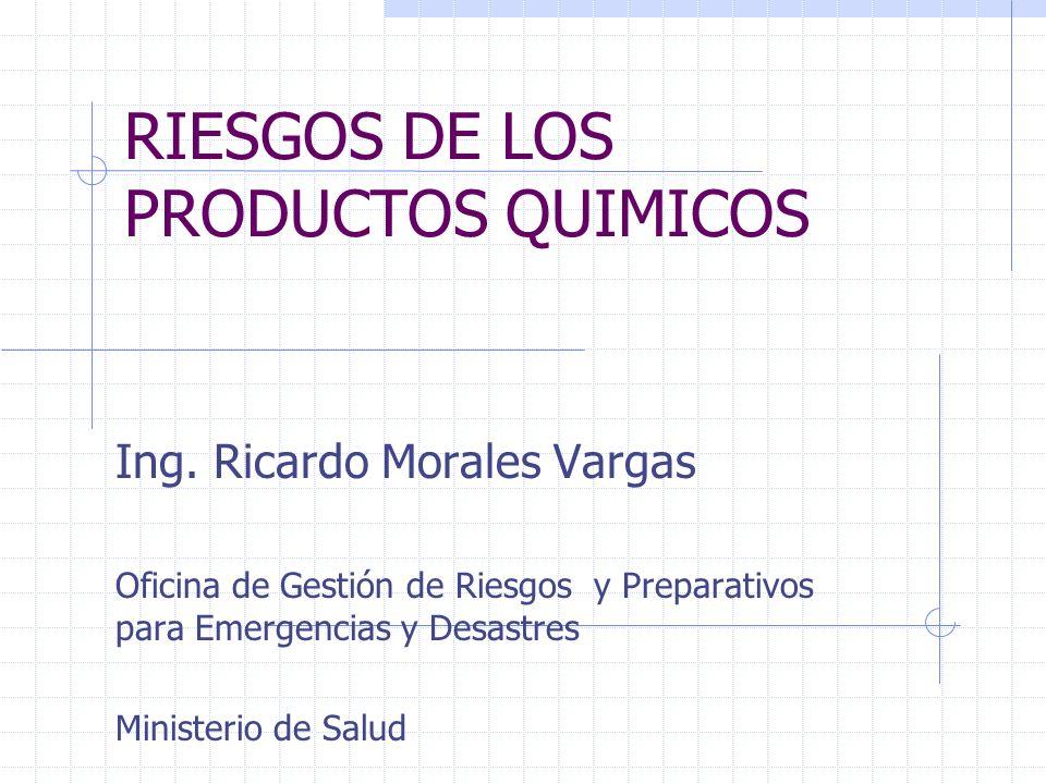 RIESGOS DE LOS PRODUCTOS QUIMICOS