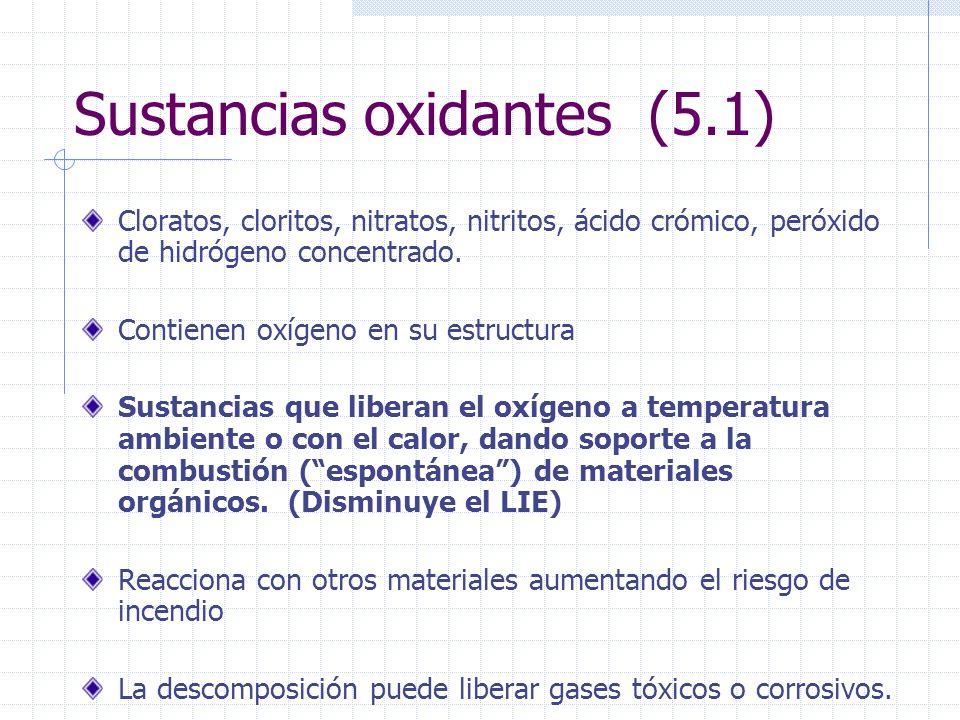 Sustancias oxidantes (5.1)