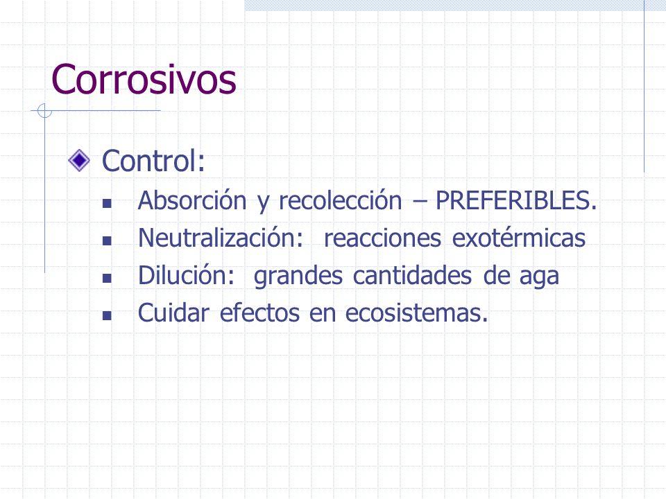 Corrosivos Control: Absorción y recolección – PREFERIBLES.