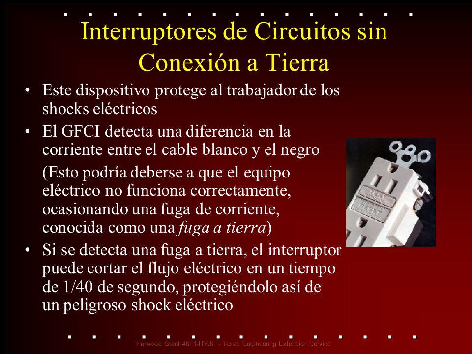 Interruptores de Circuitos sin Conexión a Tierra
