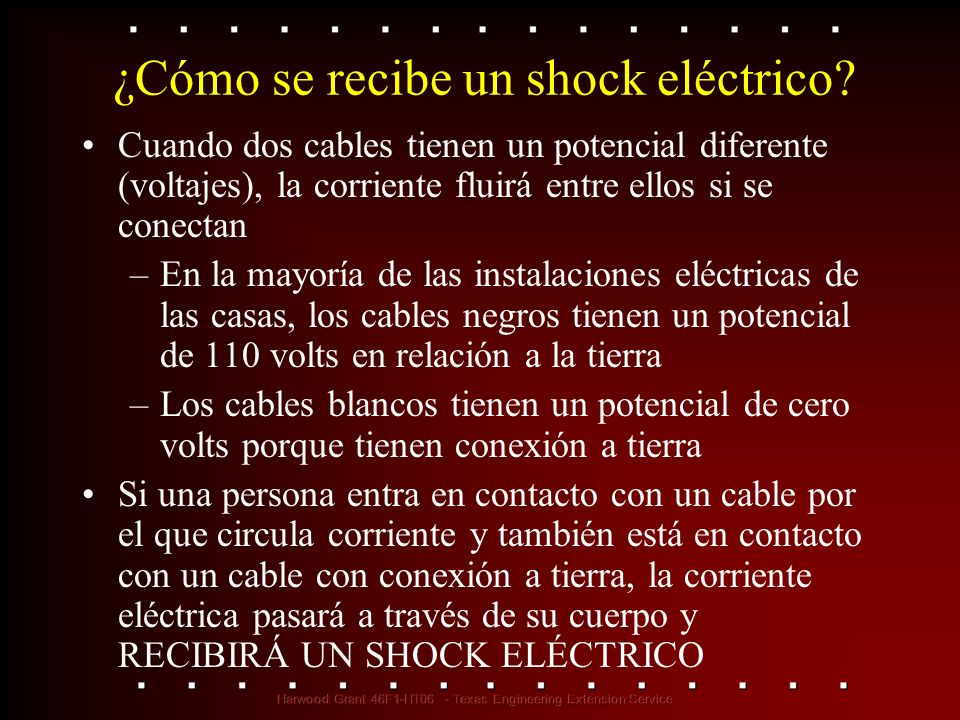 ¿Cómo se recibe un shock eléctrico
