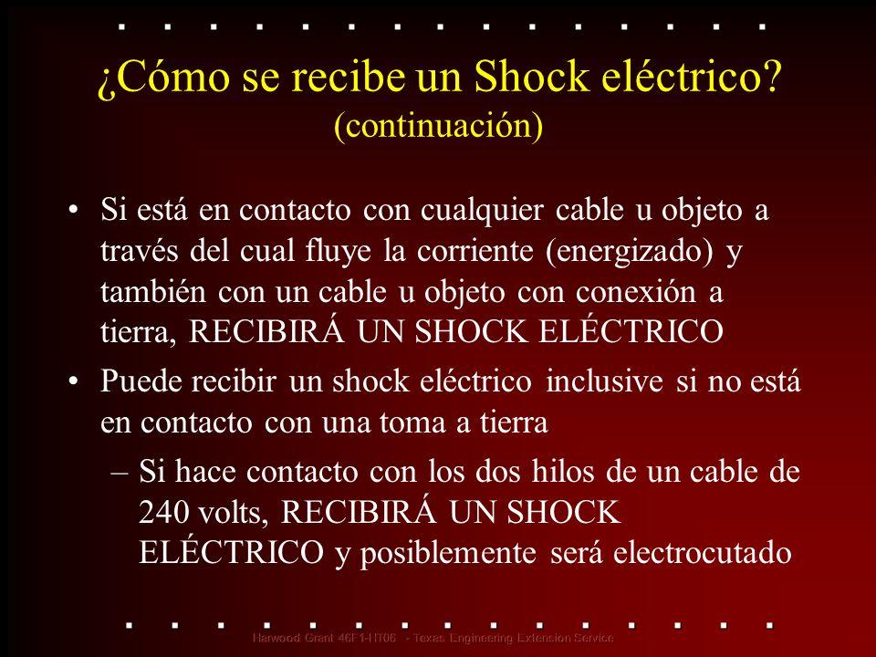 ¿Cómo se recibe un Shock eléctrico (continuación)