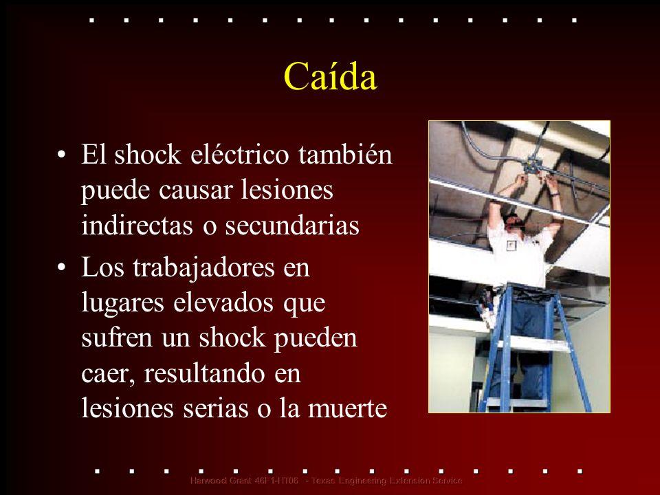 Caída El shock eléctrico también puede causar lesiones indirectas o secundarias.