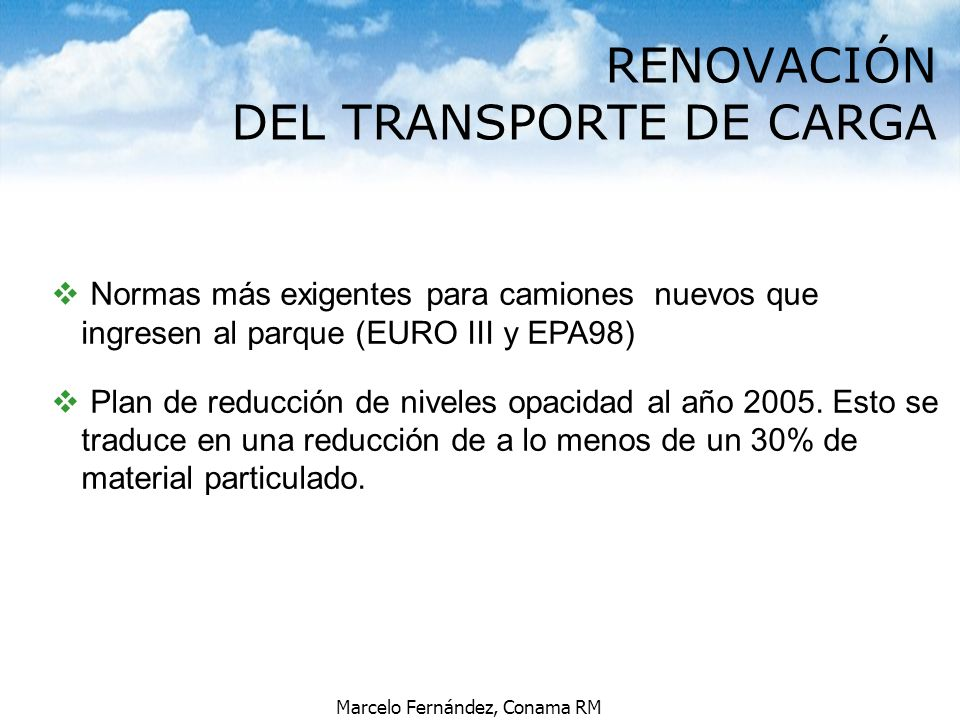 RENOVACIÓN DEL TRANSPORTE DE CARGA