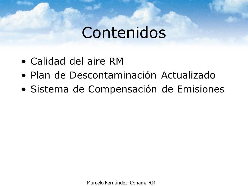 Contenidos Calidad del aire RM Plan de Descontaminación Actualizado