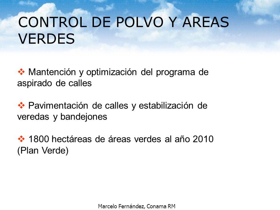 CONTROL DE POLVO Y AREAS VERDES
