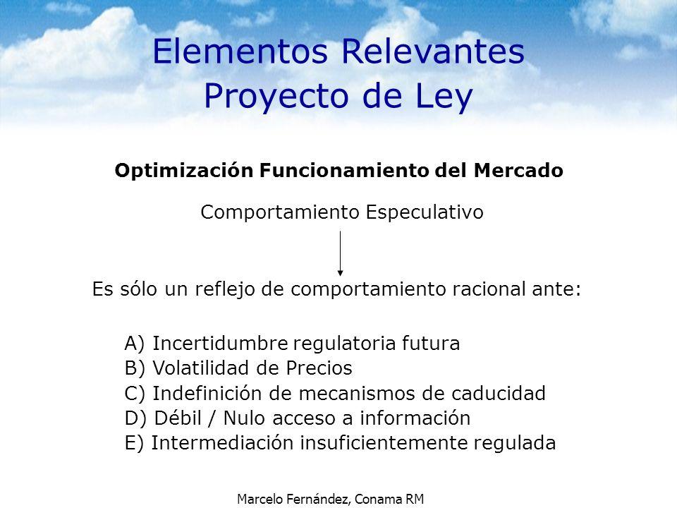 Elementos Relevantes Proyecto de Ley