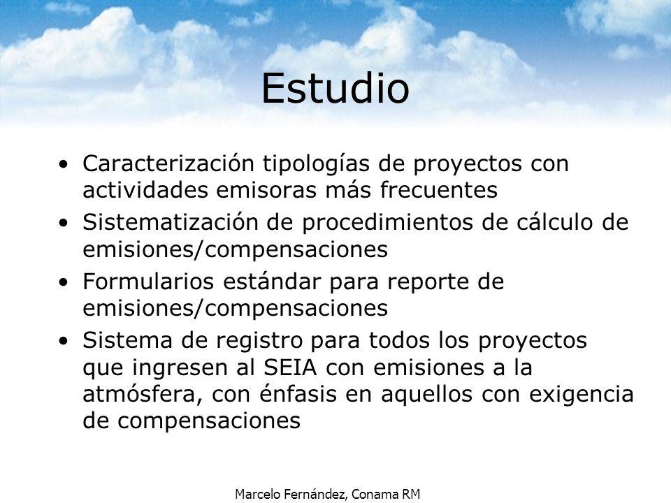 Estudio Caracterización tipologías de proyectos con actividades emisoras más frecuentes.
