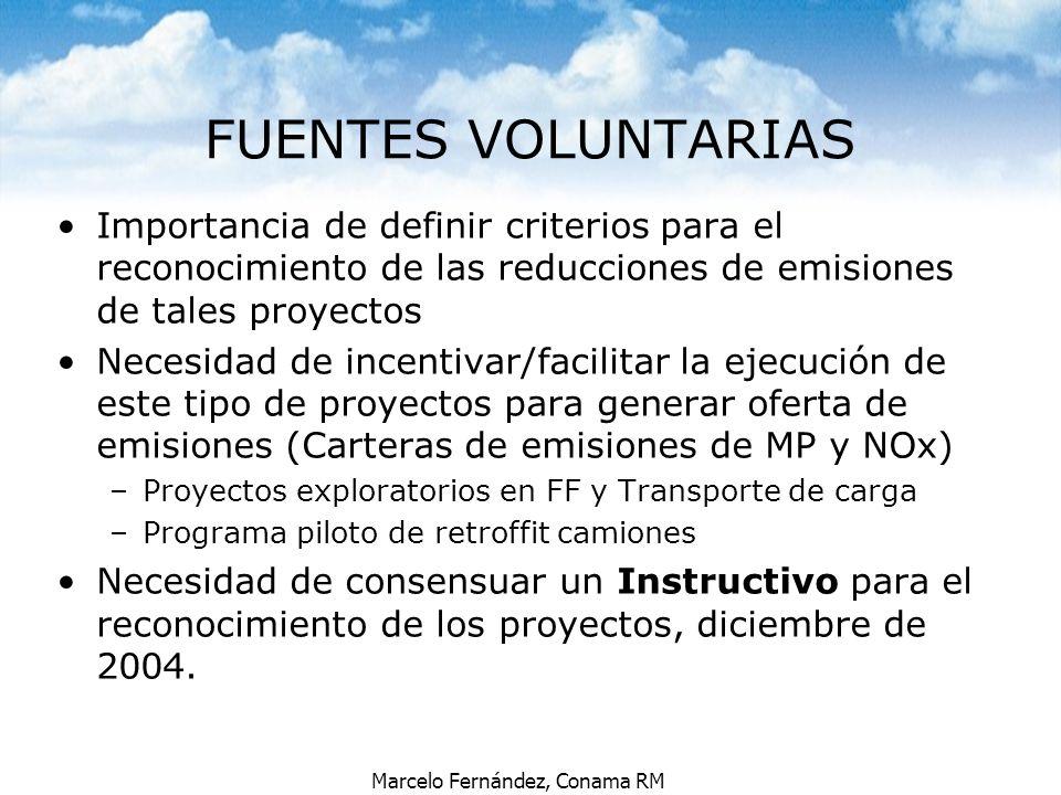 FUENTES VOLUNTARIAS Importancia de definir criterios para el reconocimiento de las reducciones de emisiones de tales proyectos.