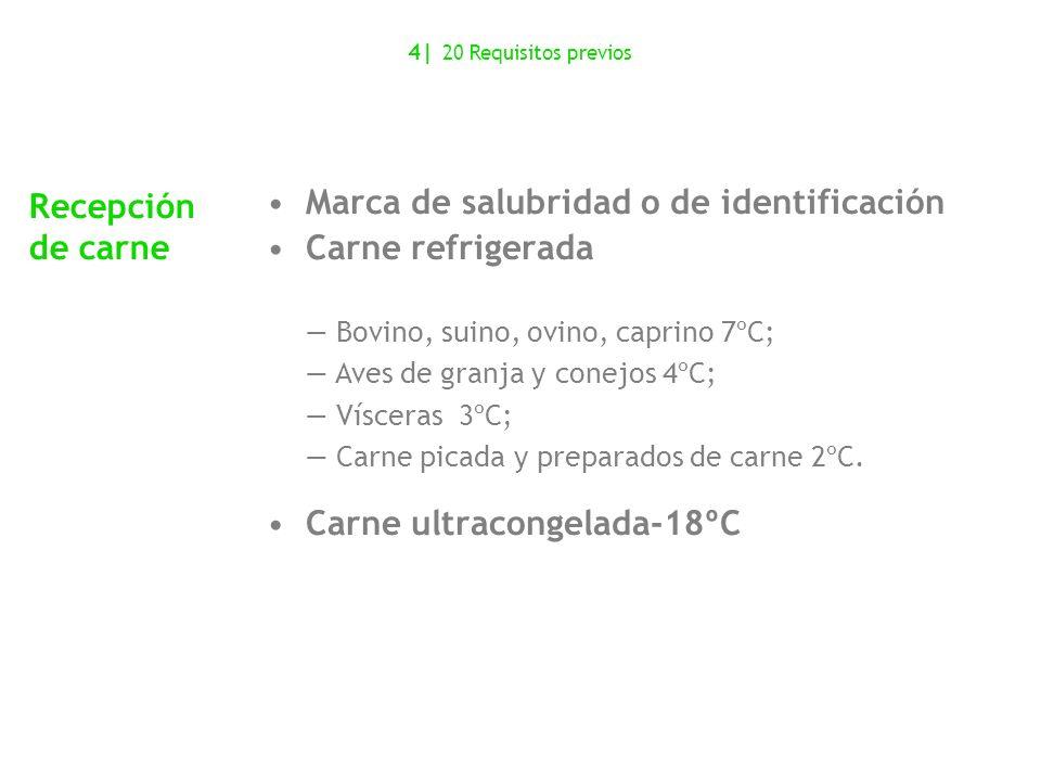 Marca de salubridad o de identificación Carne refrigerada