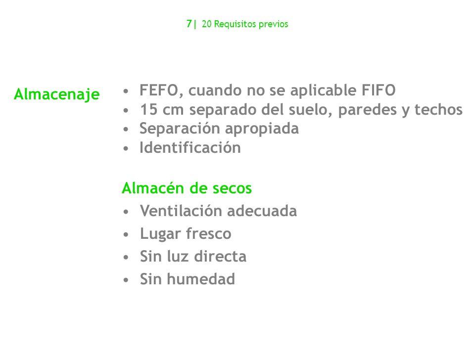 FEFO, cuando no se aplicable FIFO