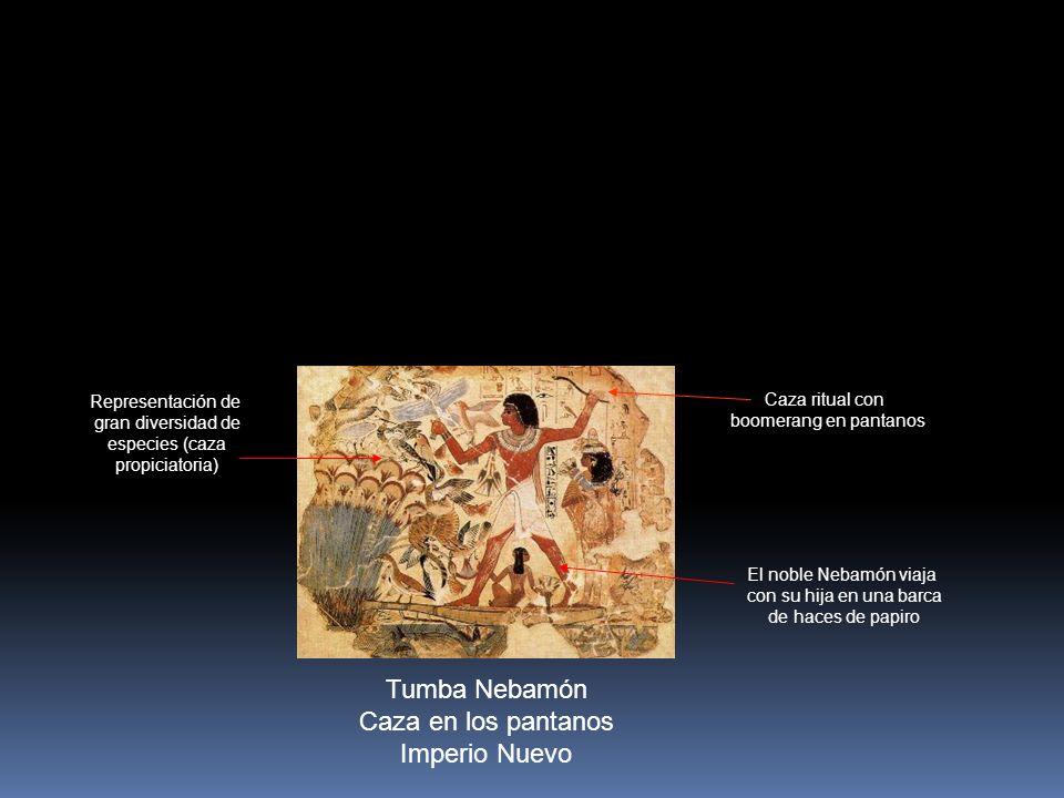 Tumba Nebamón Caza en los pantanos Imperio Nuevo Representación de