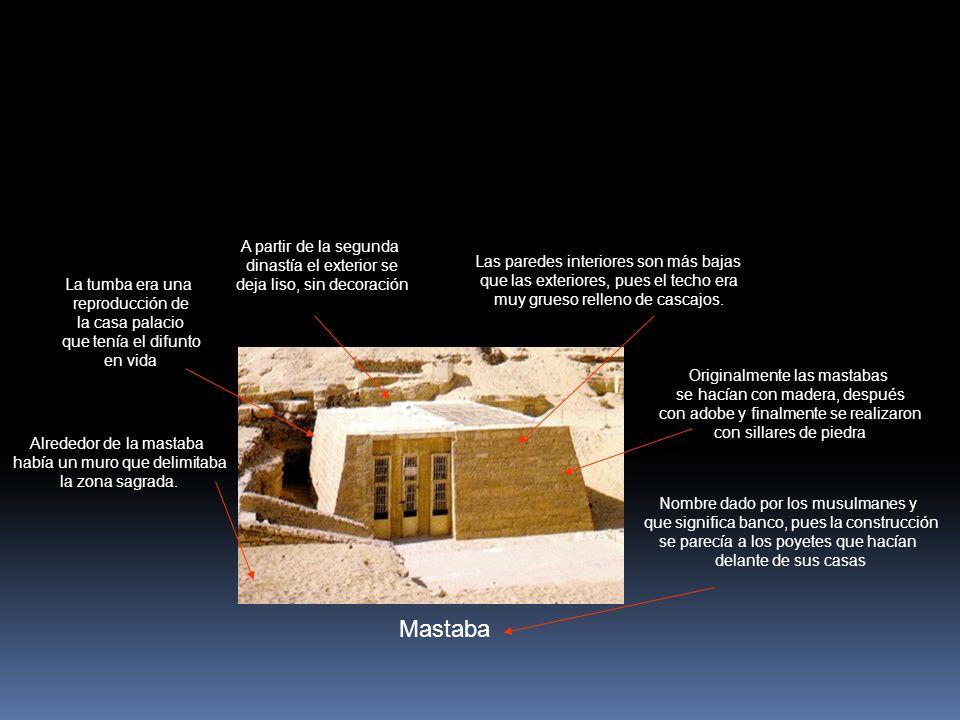 Mastaba A partir de la segunda dinastía el exterior se