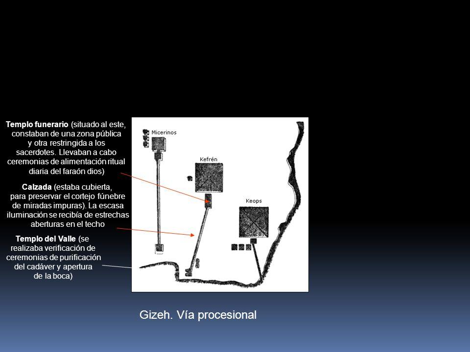 Gizeh. Vía procesional Templo funerario (situado al este,