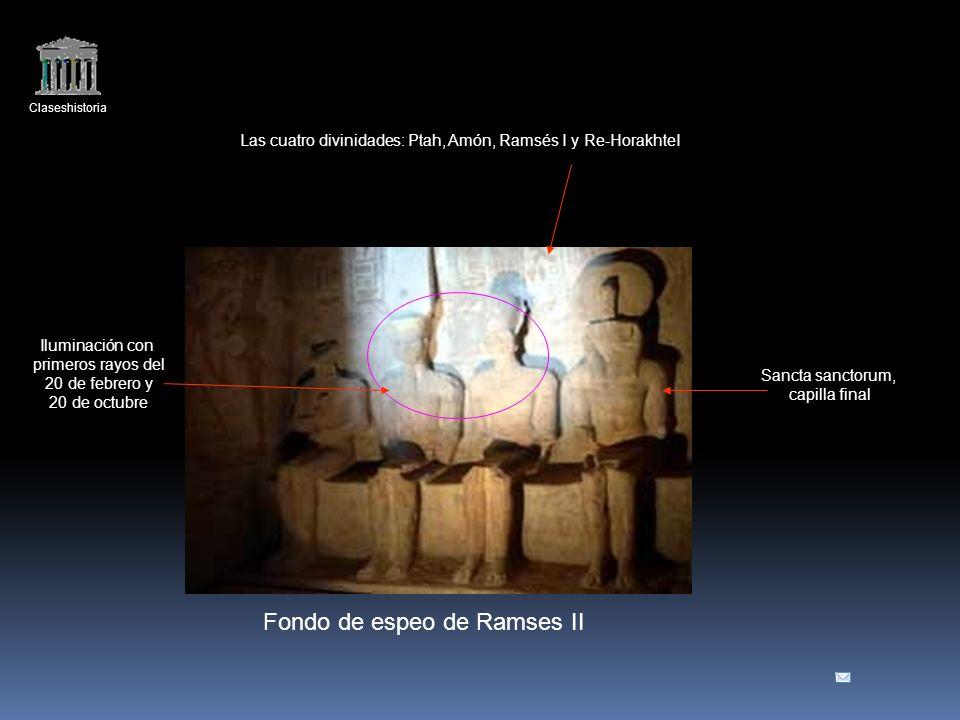 Las cuatro divinidades: Ptah, Amón, Ramsés I y Re-HorakhteI