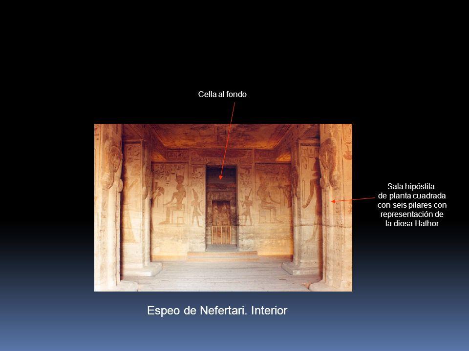 Espeo de Nefertari. Interior