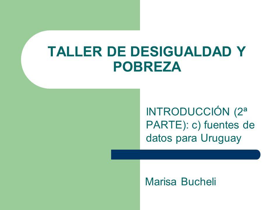TALLER DE DESIGUALDAD Y POBREZA