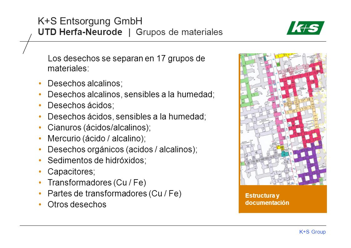 UTD Herfa-Neurode | Grupos de materiales