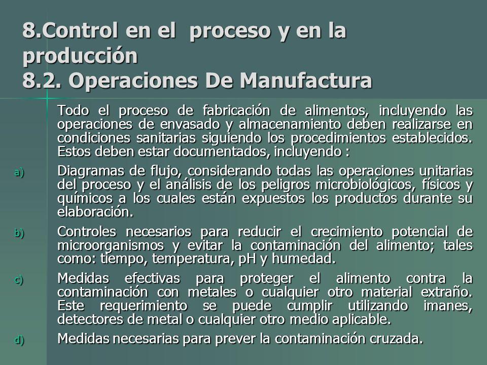 8. Control en el proceso y en la producción 8. 2