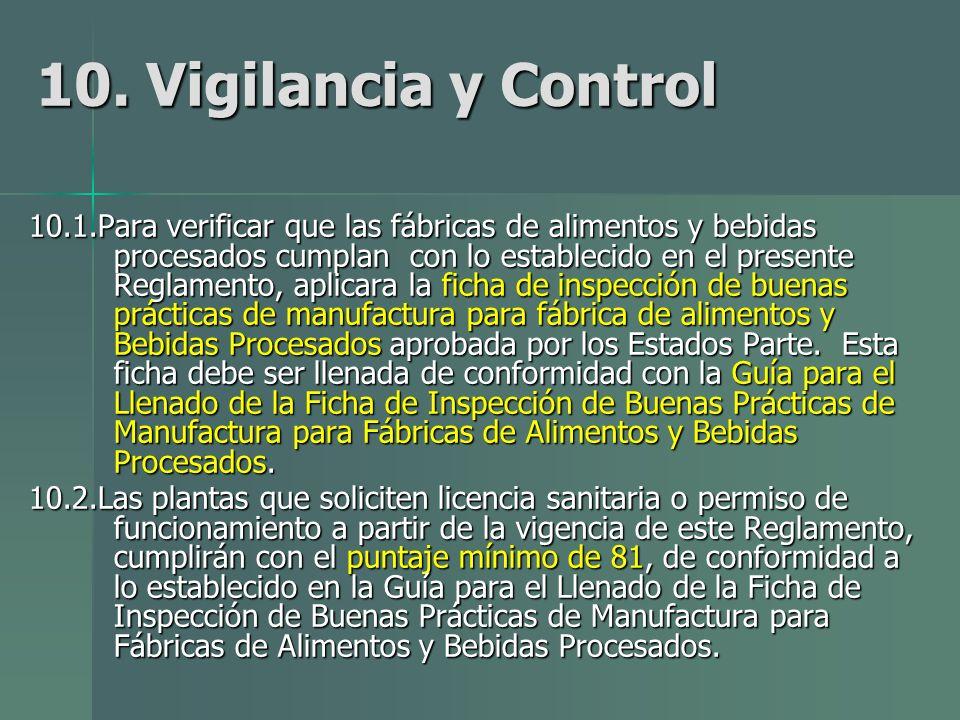 10. Vigilancia y Control