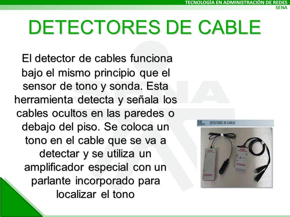 DETECTORES DE CABLE