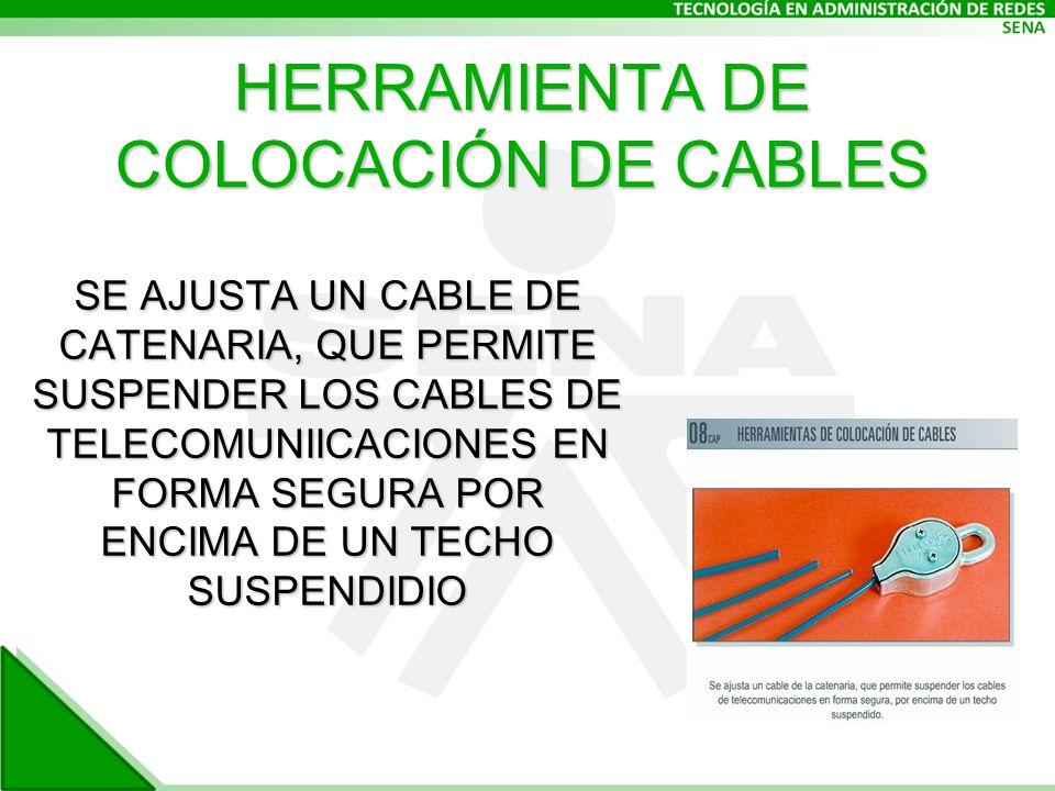 HERRAMIENTA DE COLOCACIÓN DE CABLES