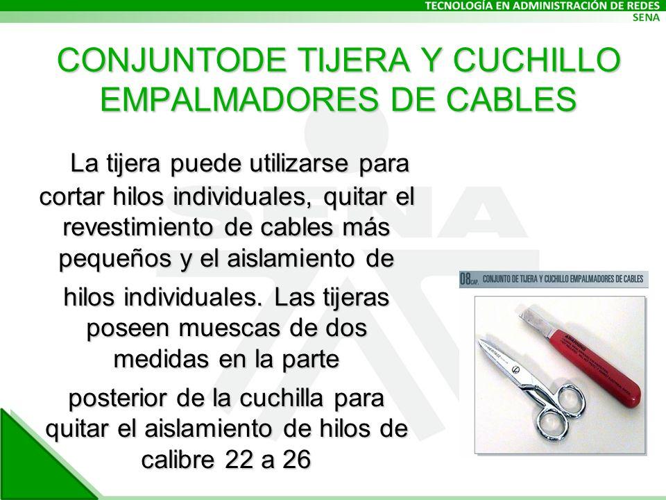 CONJUNTODE TIJERA Y CUCHILLO EMPALMADORES DE CABLES