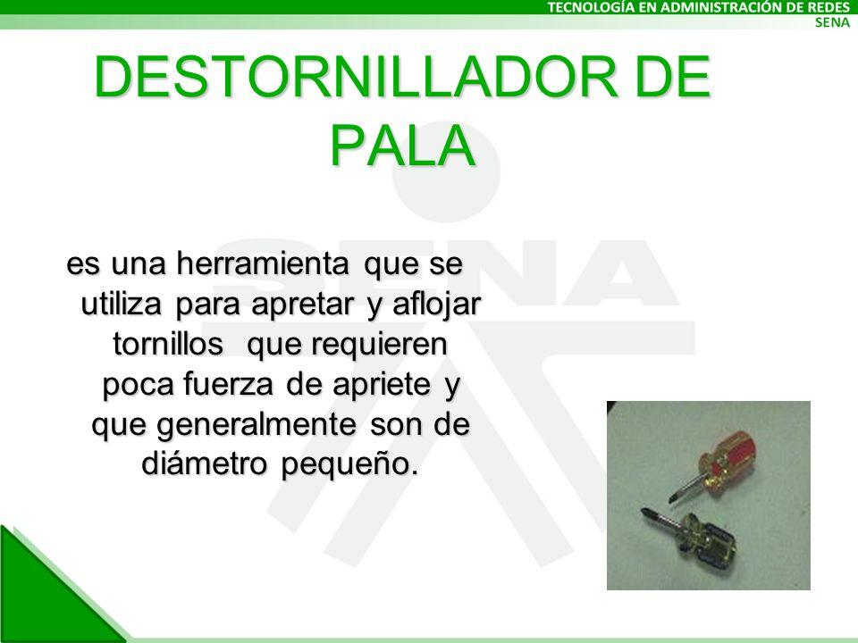 DESTORNILLADOR DE PALA