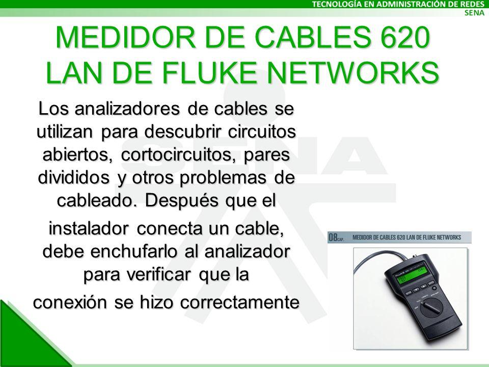 MEDIDOR DE CABLES 620 LAN DE FLUKE NETWORKS