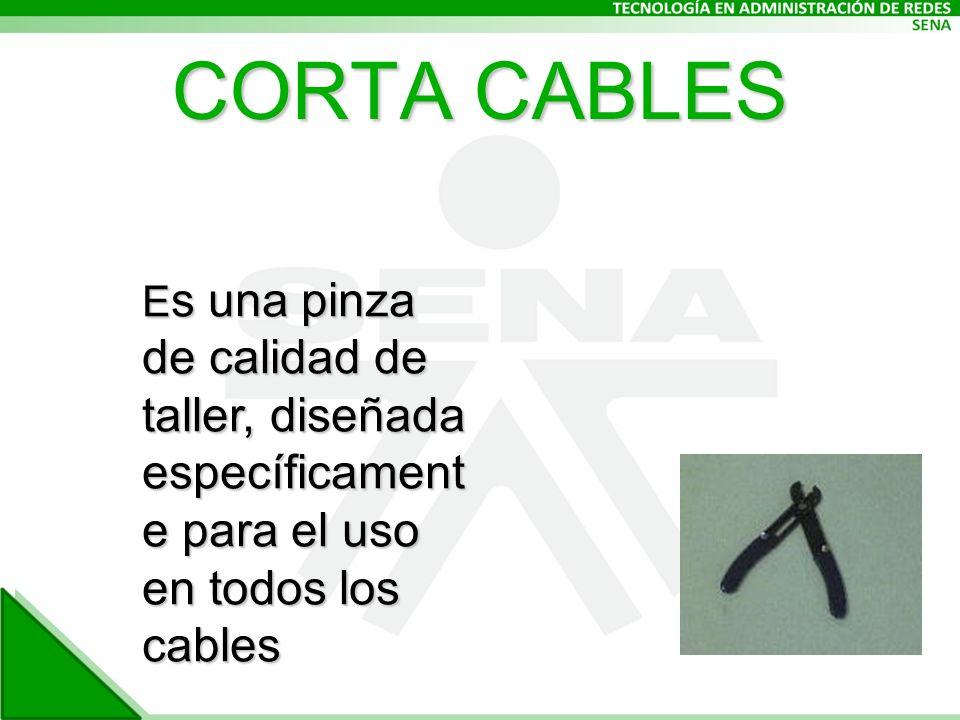 CORTA CABLES Es una pinza de calidad de taller, diseñada específicament e para el uso en todos los cables.