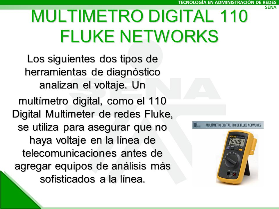MULTIMETRO DIGITAL 110 FLUKE NETWORKS