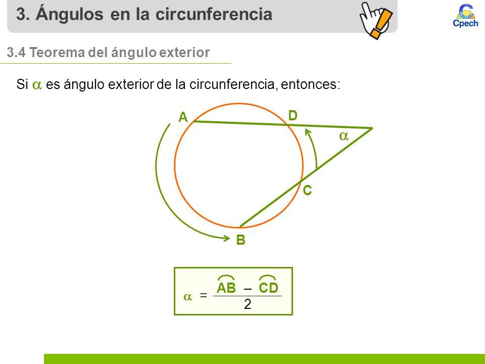 Generalidades y ngulos en la circunferencia ppt video for Exterior a la circunferencia