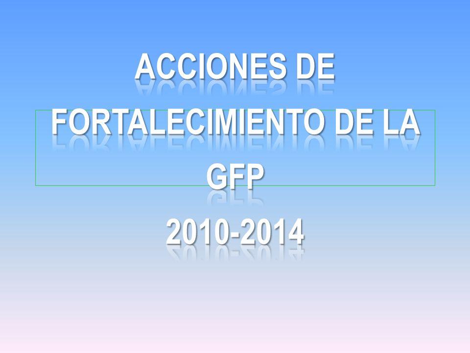 ACCIONES DE FORTALECIMIENTO DE LA GFP 2010-2014